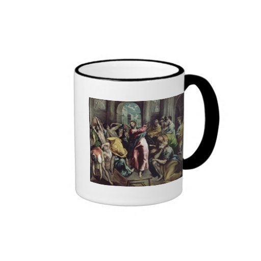 Christ Driving the Traders from the Temple Ringer Coffee Mug