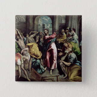 Christ Driving the Traders from the Temple Pinback Button