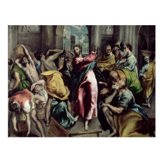 Christ Driving the Traders from the Temple Post Card
