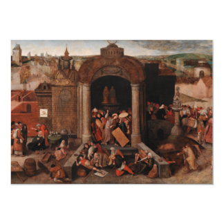 Christ Driving Traders from the Temple by Bruegel Card