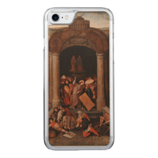 Christ Driving Traders from the Temple by Bruegel Carved iPhone 7 Case