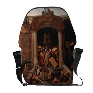 Christ Driving Traders from the Temple by Bruegel Courier Bag