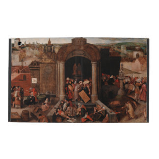 Christ Driving Traders from the Temple by Bruegel iPad Cover