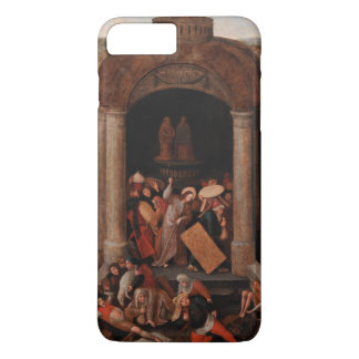 Christ Driving Traders from the Temple by Bruegel iPhone 8 Plus/7 Plus Case
