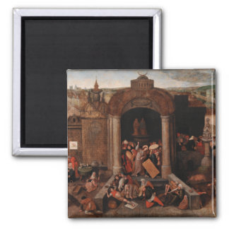 Christ Driving Traders from the Temple by Bruegel Refrigerator Magnets