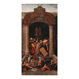 Christ Driving Traders from the Temple by Bruegel Photo Card Template
