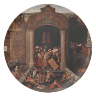 Christ Driving Traders from the Temple by Bruegel Plate
