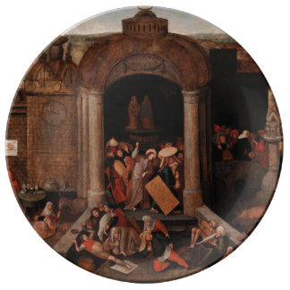 Christ Driving Traders from the Temple by Bruegel Porcelain Plate