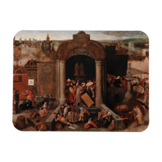 Christ Driving Traders from the Temple by Bruegel Rectangular Magnets