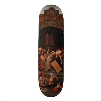 Christ Driving Traders from the Temple by Bruegel Skate Board Deck