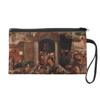 Christ Driving Traders from the Temple by Bruegel Wristlet