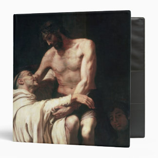 Christ Embracing St. Bernard Binder
