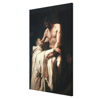 Christ Embracing St. Bernard Stretched Canvas Prints