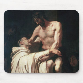 Christ Embracing St. Bernard Mouse Pad