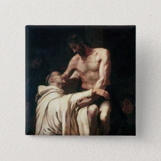 Christ Embracing St. Bernard Pinback Button