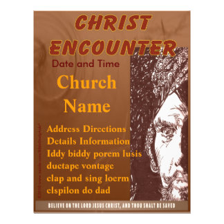 Christ Encounter Flyer Brown