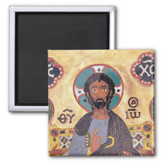 Christ Enthroned 2 Inch Square Magnet