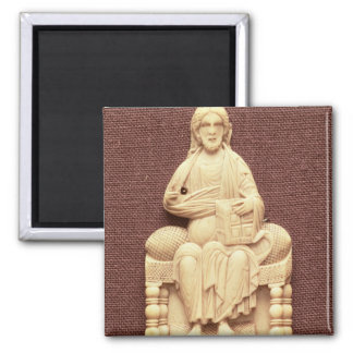 Christ enthroned, Byzantine, 10-11th century 2 Inch Square Magnet