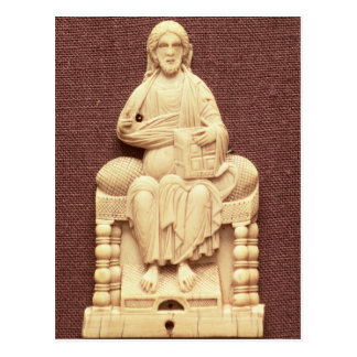 Christ enthroned, Byzantine, 10-11th century Postcard