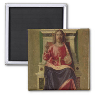 Christ Enthroned, c.1505 2 Inch Square Magnet