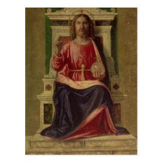 Christ Enthroned, c.1505 Postcard