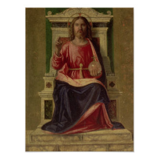 Christ Enthroned, c.1505 Poster