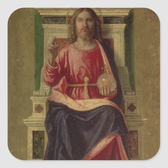 Christ Enthroned, c.1505 Square Sticker