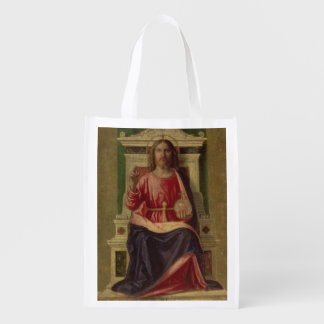 Christ Enthroned, c.1505 Reusable Grocery Bags
