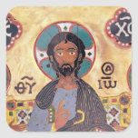 Christ Enthroned Square Stickers