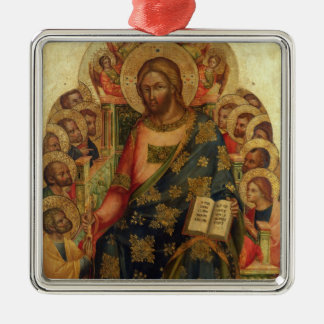 Christ Enthroned with Saints and Angels Handing th Ornament