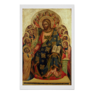 Christ Enthroned with Saints and Angels Handing th Posters