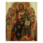 Christ Enthroned with Saints and Angels Handing th Poster