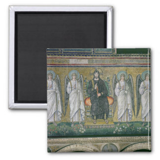 Christ enthroned with the angels 2 2 inch square magnet