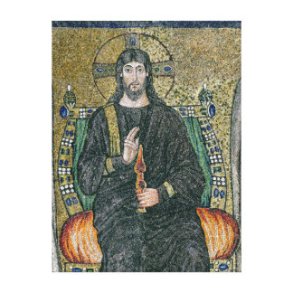Christ enthroned with the angels 2 canvas print
