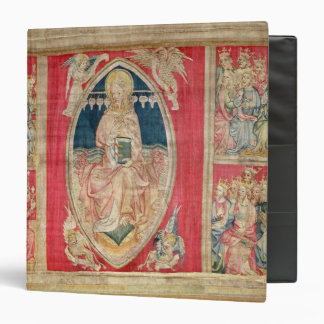 Christ enthroned with the apocalyptic beasts binder