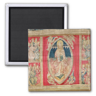 Christ enthroned with the apocalyptic beasts refrigerator magnet