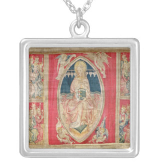 Christ enthroned with the apocalyptic beasts personalized necklace