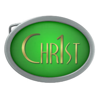 Christ First Oval Belt Buckle