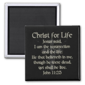 Christ For Life 2 Inch Square Magnet