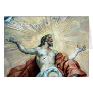 christ fresco card