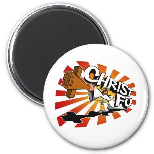 Christ Fu - Love Thy Unconscious Enemy 2 Inch Round Magnet