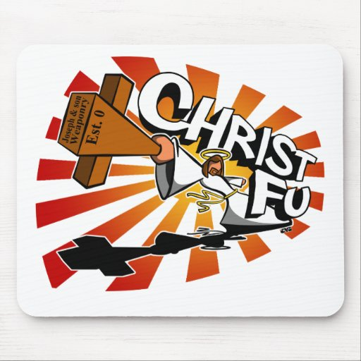 Christ Fu - Love Thy Unconscious Enemy Mouse Pad