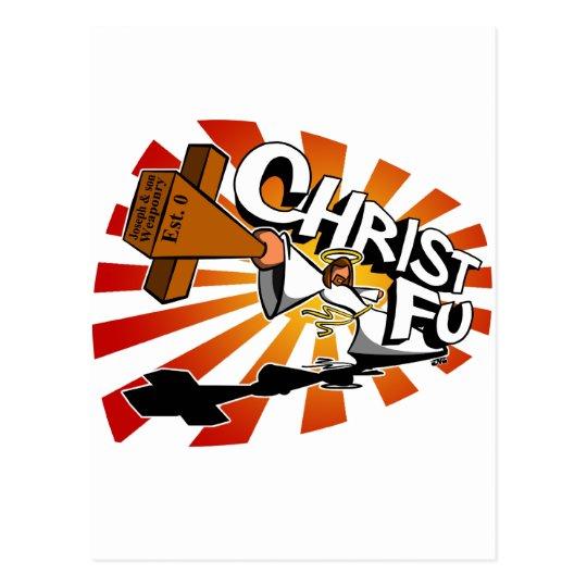 Christ Fu - Love Thy Unconscious Enemy Postcard