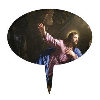 Christ garden faith hope love pray prayer angel cake topper