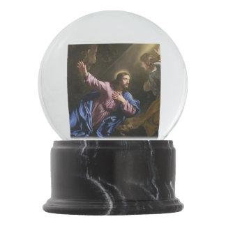 Christ garden faith hope love pray prayer angel snow globe