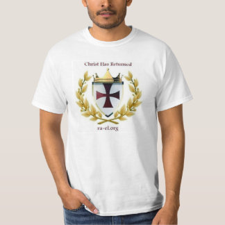 Christ has returned crest white t-shirt