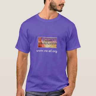 Christ has returned EOC purple tshirt mens