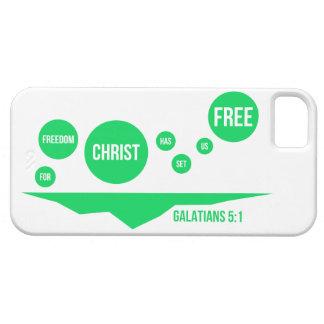 Christ Has Set Us Free - Galatians 5:1 iPhone SE/5/5s Case