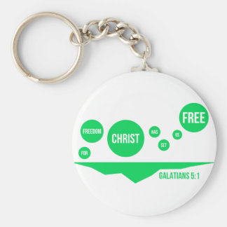 Christ Has Set Us Free - Galatians 5:1 Keychain