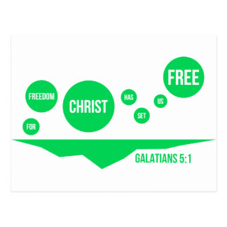 Christ Has Set Us Free - Galatians 5:1 Postcard